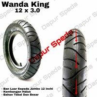 ban luar sepeda anak 12 1/2 x 3.0 Wanda king untuk BMX / push bike 12