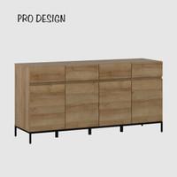 Pro Design Petra Bufet Dengan 4 Pintu 4 Laci