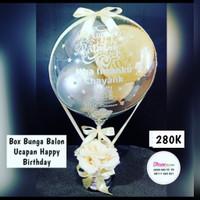 box bunga balon ucapan hadiah / box balon hadiah ucapan / hadiah gift