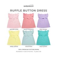ARDENLEON Girls Ruffle Button Dress