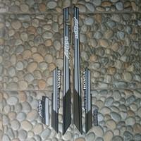 stiker striping motor Honda Astrea Grand 1992 - hitam abu