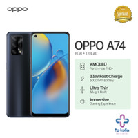 OPPO A74 Smartphone 6GB/128GB   Garansi Resmi - Fluid Black