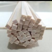 TERMURAH Balsa stik 3mm x 3mm x 100cm kayu reng stick maket DIY