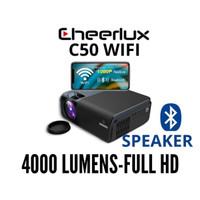 Proyektor C50 WiFi TV Tuner | Cheerlux C50 Full HD 1080 4000 Lumens - Hitam Tanpa Tas