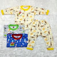 3 stel / setelan baju bayi uscita print KB panjang