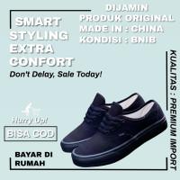 Sepatu Vans Authentic Classic Full Black / Hitam Dt Premium Bnib - 36