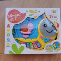 Mainan Anak Piano Siput Murah Musical Snail Animal Piano - Biru