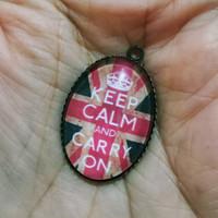 charm bandulan gelang kalung - vintage keep calm carry on - unik