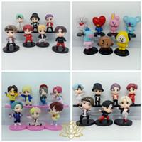 Figure BTS Army Tiny Tan Mic Drop Set isi 7 Hiasan Topper Kue