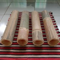 Bambu Potongan 50cm Kerajinan Dekorasi Taman Rumah