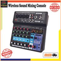 Wireless Console Mixing Podcast 6 Channel Phantom Power 48V - TEYUN A6