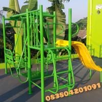 ayunan besi kombinasi mainan tk paud dan taman bermain anak outdoor
