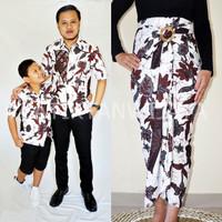 Baju Couple Keluarga Family Batik Mama Rok lilit Papa Anak Hem Jogja - ROK LILIT