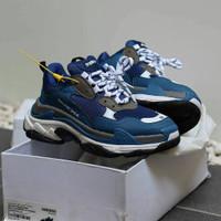 Sepatu Balenciaga Triple S Navy + Dustbag dan Sertif - 40