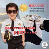 baju pilot anak untuk Laki laki Perempuan baju profesi anak tk paud
