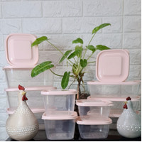 White Verse Food Container Cantik set isi 12pcs Frenzy Green leaf