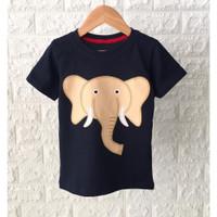 Setelan Anak Laki laki karakter gajah bahan katun umur 0-5 tahun - KAOS SAJA, 10 BULAN