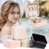 Mini Kotak Perhiasan Travel Jewelry Anting Kalung Cincin Box Penyimpan