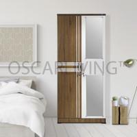Olympic LP Luna Lemari Pakaian 2 Pintu Cermin [Khusus Jabodetabek]