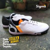 Sepatu futsal Ortuseight putih untuk pria dewasa berkualitas dan murah - Putih Hitam, 38
