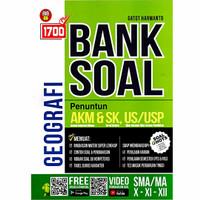 Buku 1700 Bank Soal Geografi SMA/MA Kelas 10, 11, 12