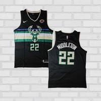 Baju Jersey Basket Swingman NBA Khris Middleton Milwaukee Bucks