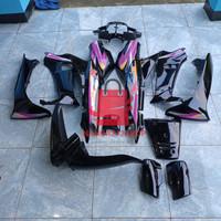 Cover body full halus Supra x lama 100cc hitam
