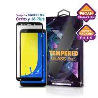 Tempered Glass SAMSUNG Galaxy J6 Plus Full Cover Black - Glass Pro