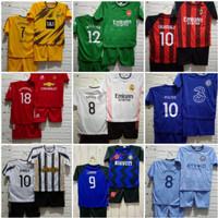 Setelan Anak Laki Laki Baju Bola Kaos Jersey Umur 6 bulan - 4 tahun