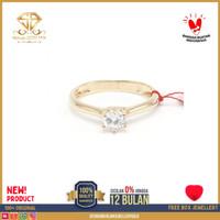 SBJ - cincin emas kuning wanita perhiasan emas asli 375 CMM140 R13