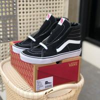 Sepatu Vans Sk8-Hi Classic Black White Original Authentic