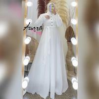 Gamis syar'i jumbo terbaru dress muslim Baju wanita - Putih