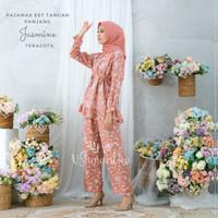 Pajamas Set Rayon Jasmine Rempel BUSUI|Tangan panjang,Celana panjang