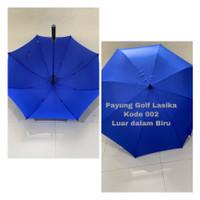 Payung Besar jumbo Golf rangka jari fiber bahan Nylon anti Uv - BIRU KODE 002