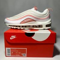 Sepatu Sneakers Casual Nike Airmax 97 UA / PK White Coral Pink Wanita