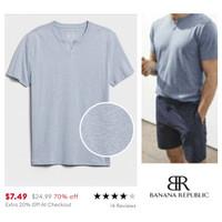 BANANA REPUBLIC quick dry men t shirt (blue