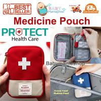 Korean Travel Medicine Pouch / Tas Obat Tempat Kotak Obat Organizer P3