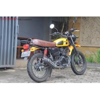 Kawasaki W175 TR Back Rack custom PnP Plug n play Bengkel Teras