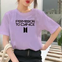 Kaos BTS Permission To Dance Wanita Oversize Baju BTS - Ungu, S
