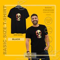 Kaos Pria Tshirt Cotton 30s Premium M L XL XXL Gambar 3D Tengkorak - M, Black