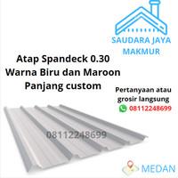 Spandek 0.3 mm galvalum / atap spandek / spandeck warna