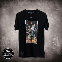 Kaos OFF WHITE Pascal Painting Black Tshirt 100% ORIGINAL - XS
