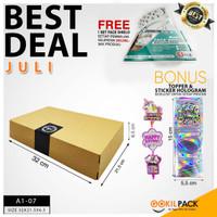 Box Packaging Kardus Polos Kotak Kue/Cake/Tart/Bolu/dll 32x21x6 cm