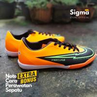 Sepatu futsal Nike Mercurial untuk pria dewasa murah & berkualitas - Orange Hitam, 38