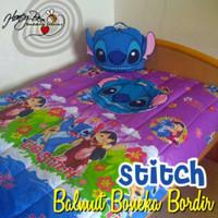 Bonmut Boneka Balmut Bantal Selimut Stitch Ungu