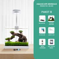 Aquarium USB Desktop / Aquarium Cupang / Mini / Aquascape MA-003 - Paket B