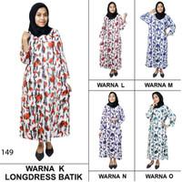 Longdres Batik, Daster Lengan Panjang, Baju Tidur, Kancing (LPT001-39)