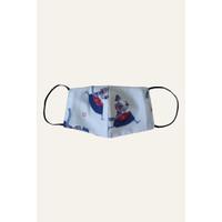 Masker Daur Timun Putih - Bunga Laut Biru