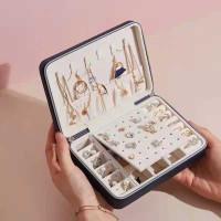 PERSEGI PANJANG TEMPAT PERHIASAN Travel Jewelry Anting Kalung Cincin