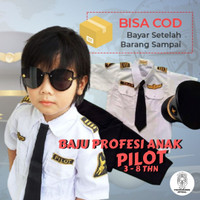 seragam pilot untuk anak perempuan kostum karnaval TK dan paud 3-8Th